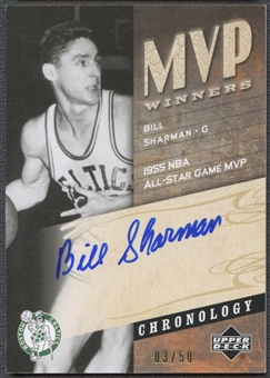 2006/07 Chronology #MVPBS Bill Sharman MVP Winners Auto #03/50