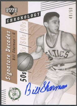 2006/07 Chronology #DBS Bill Sharman Signature Decades Auto #49/50
