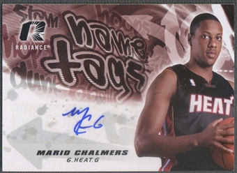 2008/09 Upper Deck Radiance #NTMC Mario Chalmers Name Tag Rookie Auto