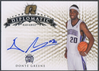2008/09 Upper Deck Radiance #20 Donte Greene Diplomatic Rookie Auto