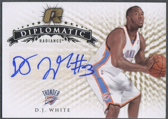 2008/09 Upper Deck Radiance #3 D.J. White Diplomatic Rookie Auto