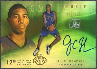 2008/09 Upper Deck Radiance #107 Jason Thompson Rookie Auto #008/299