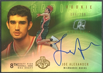 2008/09 Upper Deck Radiance #91 Joe Alexander Rookie Auto #086/299