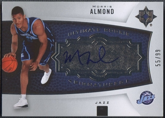 2007/08 Ultimate Collection #102 Morris Almond Rookie Auto #55/99