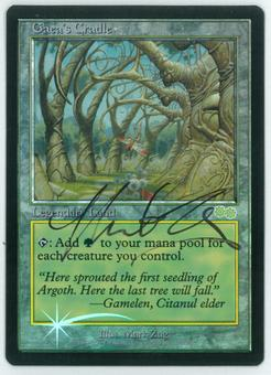 Magic the Gathering Promo Single Gaea's Cradle JUDGE FOIL - NEAR MINT (NM) Artist Signed!