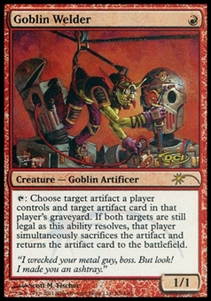 Magic the Gathering Promo Single Goblin Welder JUDGE FOIL - SLIGHT PLAY (SP)