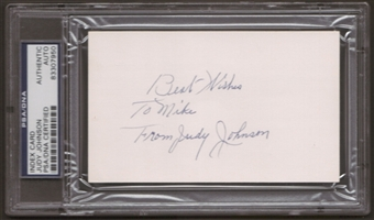 Judy Johnson Autograph (Index Card) PSA/DNA Certified *7950