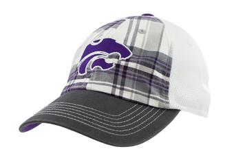 Kansas State Wildcats Top Of The World Scholar Plaid Adjustable Hat (Adult One Size)