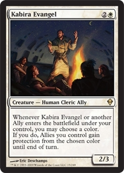 Magic the Gathering Zendikar Single Kabira Evangel FOIL