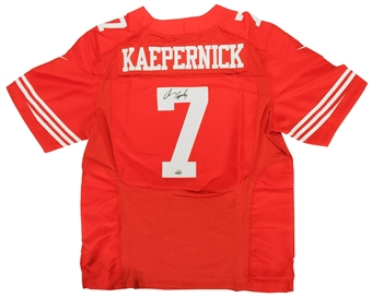 Colin Kaepernick Autographed San Francisco 49ers Red Football Jersey (Fanatics)