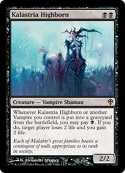 Magic the Gathering Worldwake Single Kalastria Highborn Foil