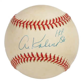 Al Kaline Autographed Official American League Baseball (GAI COA)
