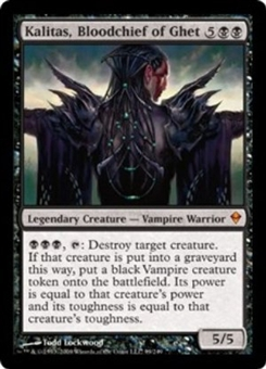 Magic the Gathering Zendikar Single Kalitas, Bloodchief of Ghet Foil