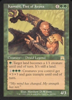 Magic the Gathering Onslaught Single Kamahl, Fist of Krosa Foil