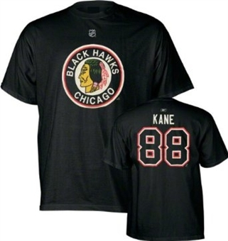 Patrick Kane Chicago Blackhawks Black Reebok Vintage T-Shirt (Size Small)
