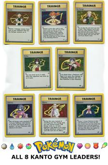 Pokemon Gym Expansion Lot - All Eight Kanto Gym Leaders!