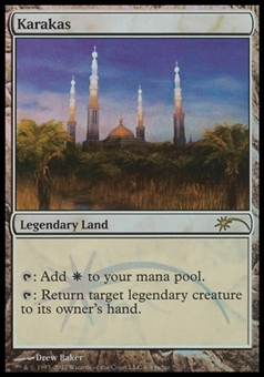 Magic the Gathering Promo Single Karakas JUDGE FOIL - SLIGHT PLAY (SP)