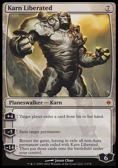 Magic the Gathering New Phyrexia Single Karn Liberated FOIL - MODERATE PLAY (MP)