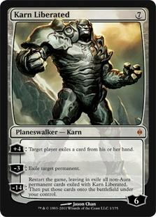 Magic the Gathering New Phyrexia Single Karn Liberated FOIL