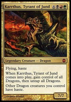 Magic the Gathering Alara Reborn Single Karrthus, Tyrant of Jund FOIL - SLIGHT PLAY (SP)