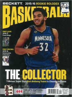 2016 Beckett Basketball Monthly Price Guide (#291 December) (Karl-Anthony Towns)