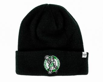 Boston Celtics '47 Brand Black Raised Cuff Knit Winter Hat (Adult One Size)