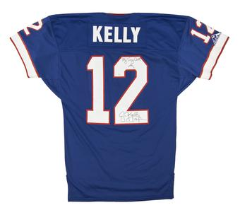 Jim Kelly Autographed Buffalo Bills Home Apex Jersey (JSA)     *VERY RARE*