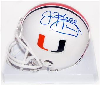 Jim Kelly Autographed University of Miami Hurricanes Football Mini-Helmet