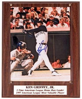 Ken Griffey Jr. Autographed Seattle Mariners 8x10 Photograph Plaque (Stacks of Plaques)