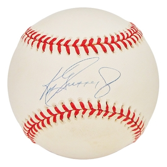 Ken Griffey Jr. Autographed Official Major League Baseball (UDA COA)