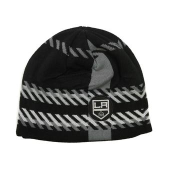 Los Angeles Kings Old Time Hockey Black Bolgar Beanie Knit Hat (Adult OSFA)