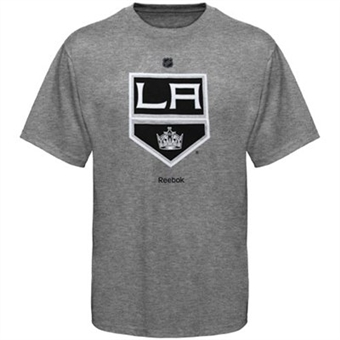 Los Angeles Kings Grey Reebok Logo T-Shirt (Size Large)