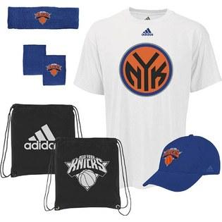 New York Knicks Adidas To the Court 5-Piece Shirt Hat Combo Pack (Size Large)