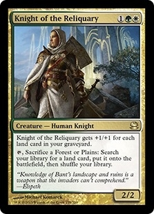 Magic the Gathering Modern Masters Single Knight of the Reliquary - NEAR MINT (NM)