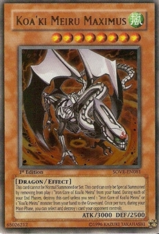 Yu-Gi-Oh Stardust Overdrive Single Koa'ki Meiru Maximus Ultimate Rare