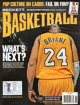2013 Beckett Basketball Monthly Price Guide (#249 June) (Kobe Bryant)