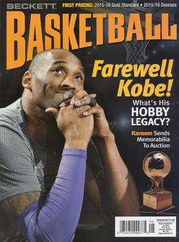 2016 Beckett Basketball Monthly Price Guide (#284 May) (Kobe Bryant)