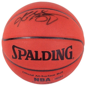 Kobe Bryant Autographed Los Angeles Lakers Official Spalding Basketball (PSA)
