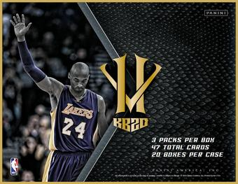 2016 Panini Kobe Hero vs. Villain Basketball Hobby 20-Box Case