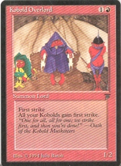 Magic the Gathering Legends Single Kobold Overlord - NEAR MINT (NM)