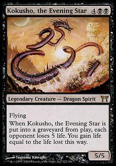 Magic the Gathering Champions of Kamigawa Single Kokusho, the Evening Star FOIL - SLIGHT PLAY (SP)