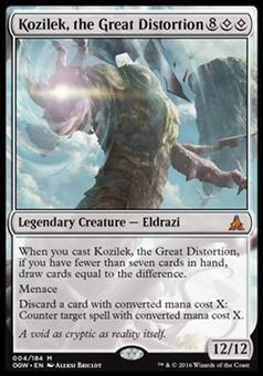 Magic the Gathering Oath of the Gatewatch Single Kozilek, the Great Distortion FOIL -  NEAR MINT (NM)