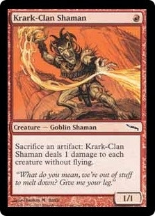 Magic the Gathering Mirrodin Single Krark-Clan Shaman Foil