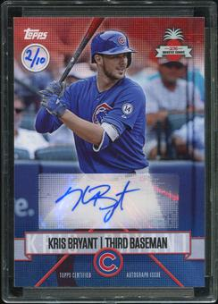 2016 Topps Baseball Hawaii Summit Exclusive Kris Bryant Autograph 2/10