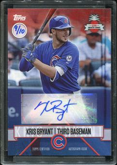 2016 Topps Baseball Hawaii Summit Exclusive Kris Bryant Autograph 9/10