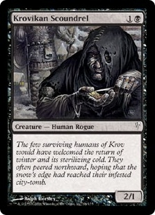 Magic the Gathering Coldsnap Single Krovikan Scoundrel FOIL