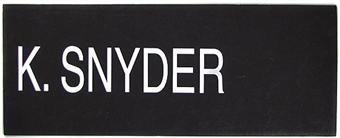 Kirk Snyder 2004 NBA Draft Board Basketball Nameplate (One of a Kind!)