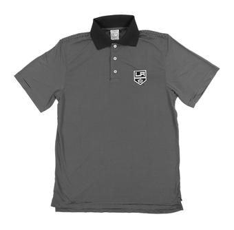 Los Angeles Kings Level Wear Dunhill Black Performance Polo (Adult Large)