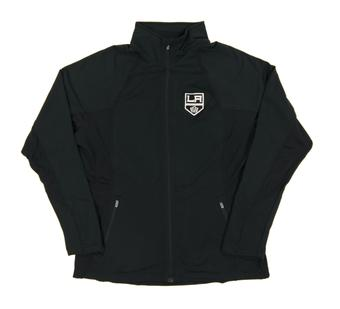 Los Angeles Kings Level Wear Lunar Black Performance Track Jacket (Womens Large)