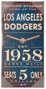 Los Angeles Dodgers Artissimo Vintage Sign 10x20 Canvas